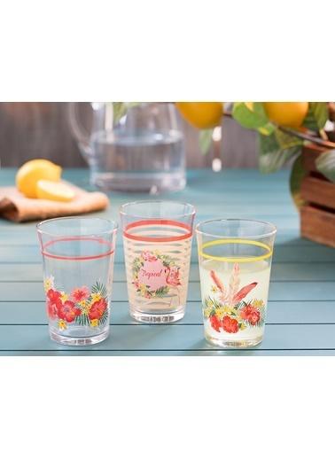 Madame Coco Flamingo 3'lü Su Bardağı Seti Pembe